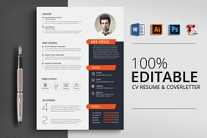 Clean CV Resume Word