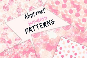 Abstract floral seamless patterns