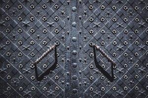 Forged metal door