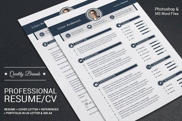 My Professional Resume CV Set