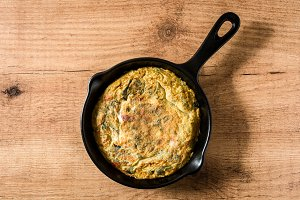 Frittata made of eggs and vegetables