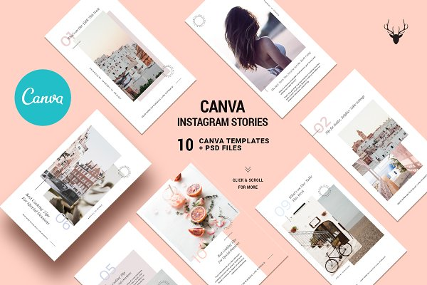 Templates - CANVA Modern Instagram Stories Pack