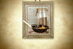 Braised lentils, . picture
