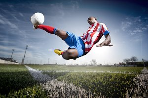 African man soccer player