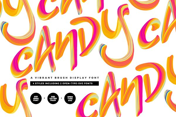 Display Fonts: Twinbrush Image Forge - Candy Display Script + SVG