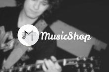 Music Shop. Creative M letter Logo