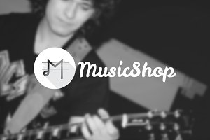 Music Shop. Creative M letter Logo