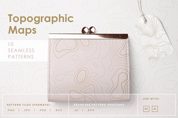 Patterns: Youandigraphics - Topographic Maps Patterns