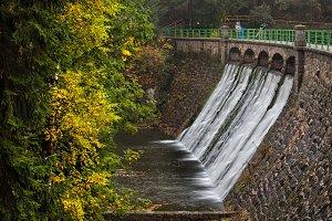 River Dam in Karpacz in Poland