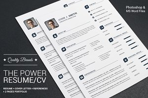 The Power Resume/CV Set Template