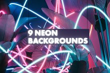 9 Neon Backgrounds (JPG)