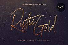 (Launch Sale!) Rustic Gold SVG Brush by  in Fonts