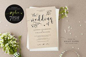 Wedding Invitation Suite, Sophie