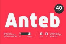 Anteb Font by  in Sans Serif Fonts
