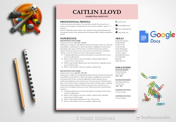 modern resume template google docs resumes