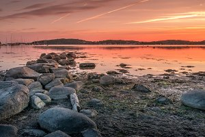 Sunset over Baltic Sea, Sweden