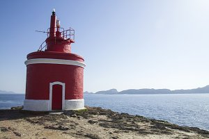 Red lighthouse in Cabo Home