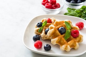Traditional belgian waffles