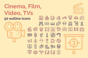 50 Icons: Cinema, Film, Video, TV