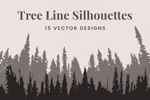 Vector Tree Line Silhouettes