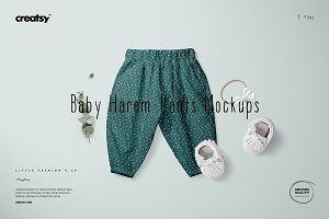 Baby Lantern Harem Pants Mockup Set
