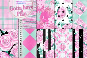 Gotta Have a Plan Seamless Patterns