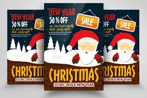 Christmas Sale Offer Flyers