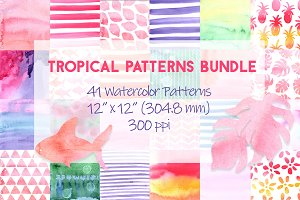 Tropical Patterns Digital Background