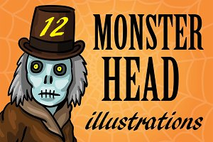 Monster Head Illustrations