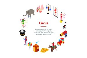 Circus Amusement and Attraction  Set