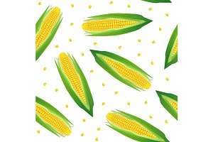 Corncobs with Yellow Corns Pattern