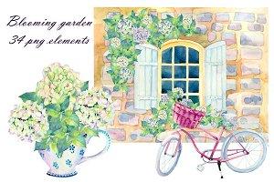 So fantastic blooming garden