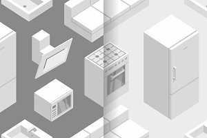 Isometric Kitchen Furniture