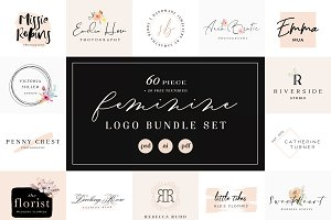 Feminine Logo Bundle Set