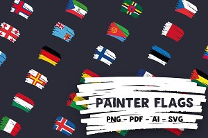 232 Painter Vector Flags Pack
