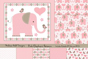 Pink Elephant Patterns