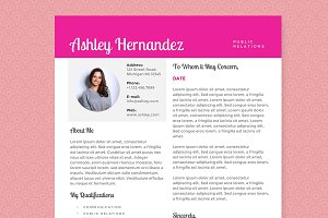 Bright Pink Resume Template Package
