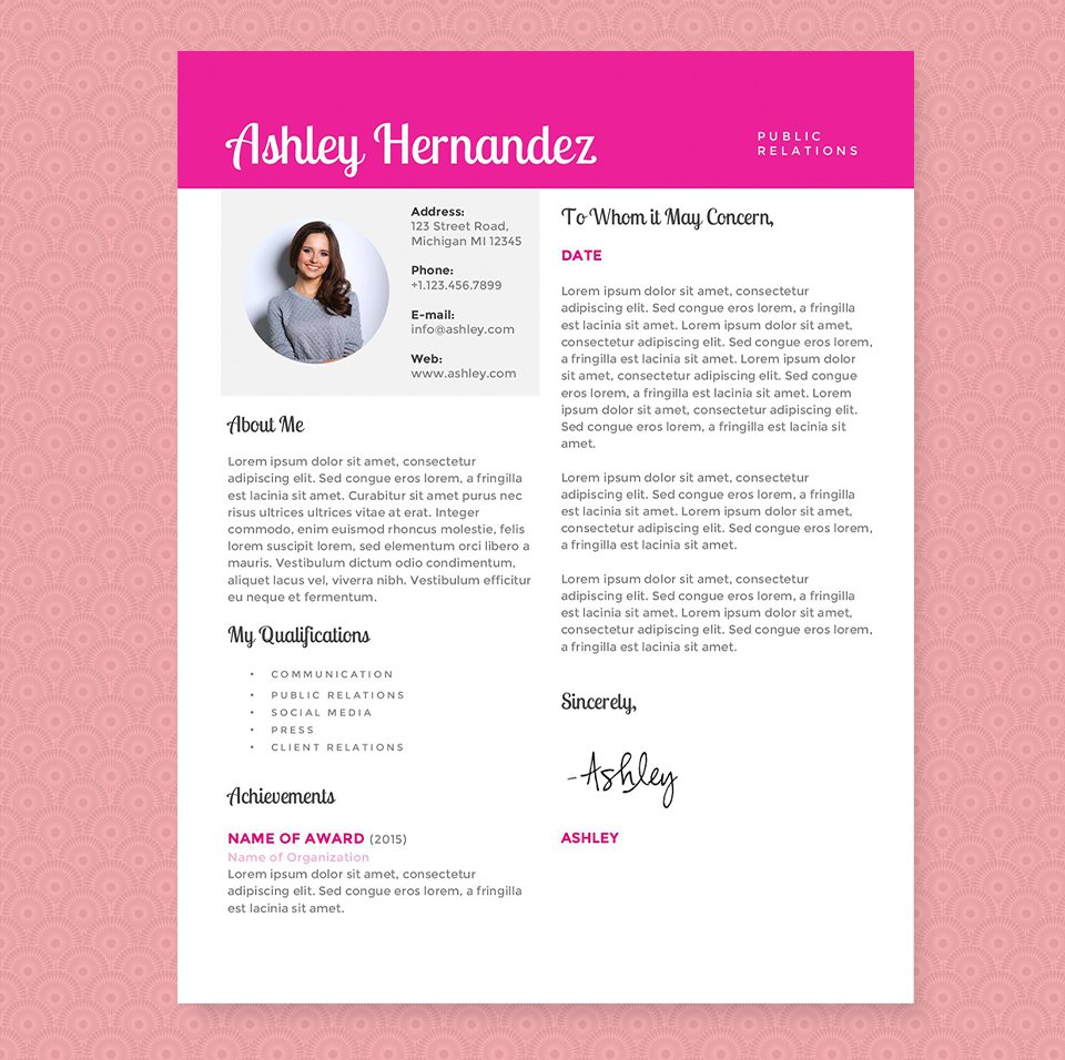 pink resume template free professional resume templates download