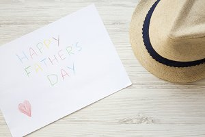 Happy Father's Day inscription with