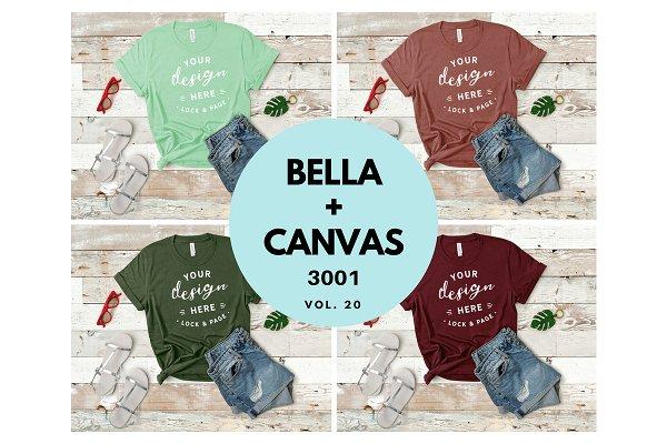 Bella Canvas TShirt Mockup Bundle 20