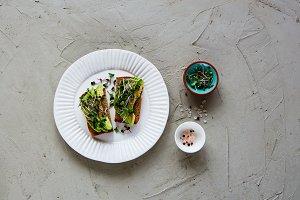 Vegan avocado toasts