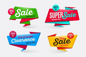 Sale banners templates, special offer, end of season
