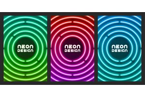 Neon original design for cover, flyer, web, page, poster