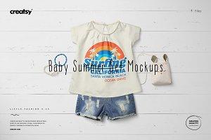 Baby Summer Set 4 Mockup Set