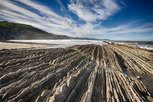 Flysch Zumaia Basque Country Spain