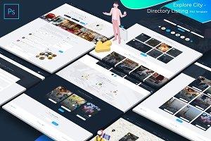 Explore City - Directory Listing PSD