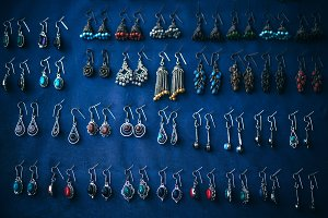 Colorful Earrings are For Sale on Bl