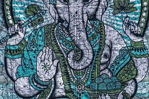 The Hindu God Ganesh Printed on Clot