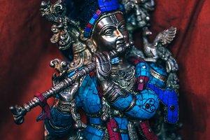 Hindu God Statue Playing Flute