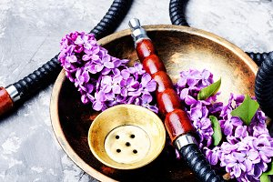 Asian tobacco hookah with floral aro